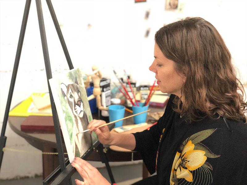 Cheryl Porro painting