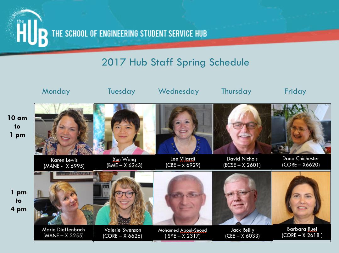 The Hub Staff Spring 2017