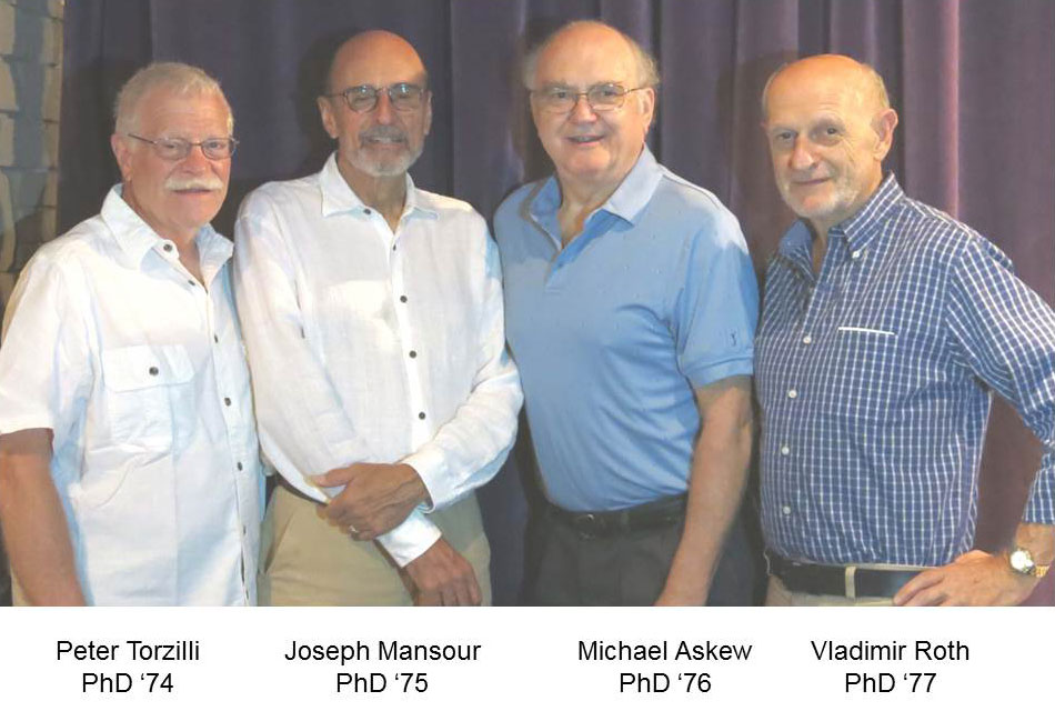 Four PhD graduate from RPI, Peter Torzilli, Joseph Mansour, Michael Askew and Vladimir Roth