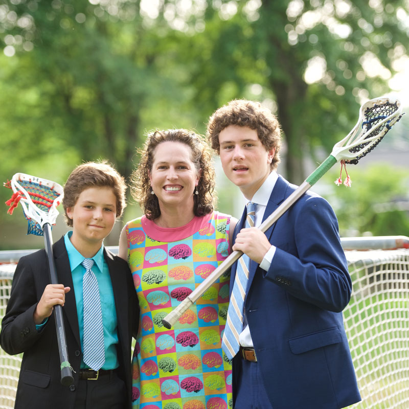 Jonna Gerken '96 with her two sons